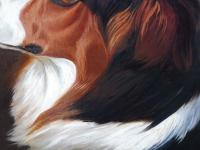 Oil on Canvas Study of a Dog Listed Artist Collin Graeme Roe 1890 (Free Shipping to Mainland England) (8 of 10)