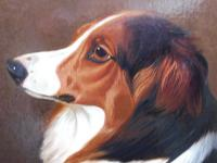 Oil on Canvas Study of a Dog Listed Artist Collin Graeme Roe 1890 (Free Shipping to Mainland England) (4 of 10)