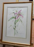 Watercolour Study of a Flower Artist Penelope Shewing (Free Shipping To Mainland England) (3 of 10)