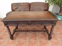 Victorian Country Oak Carved Writing Table/Desk  (Free shipping to Mainland England)