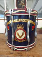 215A Seven Oaks Squadron Air Training Corps Military Drum 1960S(Free Shipping To Mainland England)