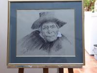 Charcoal Portrait of 'Old Man' Listed Artist Franco Matania (Free Shipping to Mainland England)