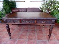Country Oak Edwards & Roberts Partners Desk (Free Shipping to Mainland England)