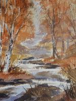 Autumn Tints River Lynher Exb Artist Renee Nash (Free Shipping to Mainland England)