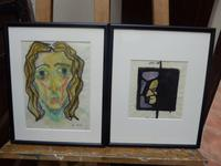 Watercolours 1950s Listed Artist Maria Rajecka (Free Shipping to Mainland England)