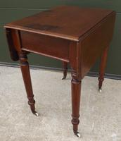 Small Victorian Mahogany Pembroke Work Table