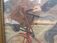 Gilt Framed Oil on Canvas Painting of a Postman by J.J. Cole (4 of 7)