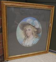 Edwardian Framed Pastel Portrait of a Fine Lady