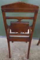 Pair of Antique Victorian Oak Hall Chairs (7 of 8)