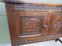 Solid Oak Small Sideboard in the Jacobean Style (2 of 8)