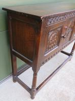 Solid Oak Small Sideboard in the Jacobean Style (3 of 8)