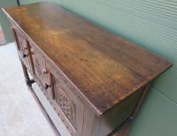 Solid Oak Small Sideboard in the Jacobean Style (4 of 8)