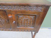Solid Oak Small Sideboard in the Jacobean Style (6 of 8)