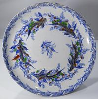 19th Century Terre De Fer Ceramic Tazza Serving Dish (6 of 7)