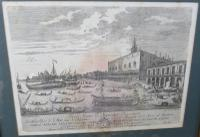 Framed Antique Venetian Engraving by Giampiccoli (9 of 9)