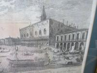 Framed Antique Venetian Engraving by Giampiccoli (8 of 9)