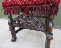 18th Century Carved Walnut High-Back Hall Chair (2 of 8)