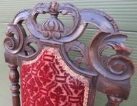 18th Century Carved Walnut High-Back Hall Chair (4 of 8)