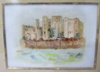 Pair of Antique Victorian Framed Paintings on Porcelain of Kenilworth Castle (3 of 6)