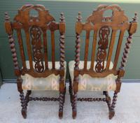Pair of Victorian Carved Oak Hall Chairs (2 of 7)