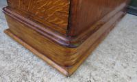 Victorian Leather-Topped Golden Oak Pedestal Desk (3 of 7)