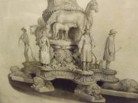 Framed 19th Century Engraving of 'the Chandos Testimonial' (3 of 7)