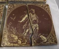 Set of 6 Victorian Minton, Hollins & Co. Biblical Tiles C.1880 (2 of 12)