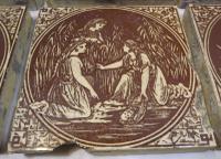 Set of 6 Victorian Minton, Hollins & Co. Biblical Tiles C.1880 (3 of 12)