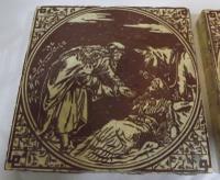 Set of 6 Victorian Minton, Hollins & Co. Biblical Tiles C.1880 (6 of 12)