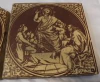 Set of 6 Victorian Minton, Hollins & Co. Biblical Tiles C.1880 (8 of 12)