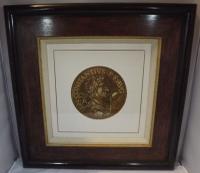 Hubert Goltzius Chiaroscuro Portrait Woodcut of Emperor Constantius II