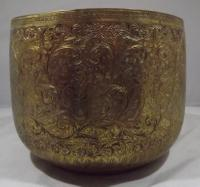 Vintage Brass Planter Engraved with Hindu Deities (6 of 6)