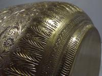 Vintage Brass Planter Engraved with Hindu Deities (5 of 6)