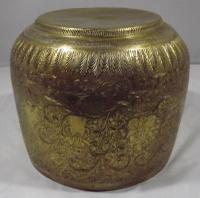 Vintage Brass Planter Engraved with Hindu Deities (3 of 6)