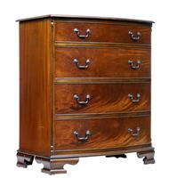 20th Century Bowfront Mahogany Chest of Drawers by Adam Richwood