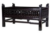 19th Century Chinese Carved Hardwood Jardiniere Planter