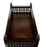 19th Century Chinese Carved Hardwood Jardiniere Planter (4 of 5)