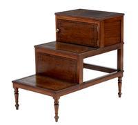 19th Century Set of Mahogany Library Steps