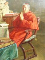 Large Oil Portrait Painting of a Cardinal by Ernst Stierhof (5 of 7)