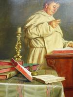 Large Oil Portrait Painting of a Cardinal by Ernst Stierhof (3 of 7)