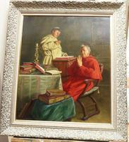 Large Oil Portrait Painting of a Cardinal by Ernst Stierhof (2 of 7)