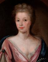 Large 18th Century Oil Portrait of a Lady Manner of Michael Dahl (3 of 3)