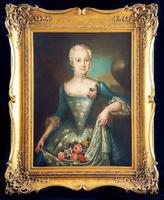18th Century Oil Portrait Painting Swedish Lady Attributed To Ulrika 'Ulla' Fredrica Pasch