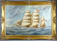 Norwegian Wooden Barque Sailing Vessel Built by B.Balchen & Co 1892 (369 Gt) Under Command of Master O.A.Hagen