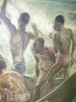 South Pacific Native Islanders Oil On Panel by Charles Cameron Baillie From Smokers Room RMS Queen Mary Liner (9 of 15)