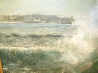 South Pacific Native Islanders Oil On Panel by Charles Cameron Baillie From Smokers Room RMS Queen Mary Liner (8 of 15)