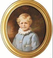 Pastel Portrait Painting of Viscount Castlerosse by Leon Sprinck C.1902