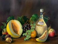 Still Life Fruit Oil Painting in Gallery Frame (2 of 6)