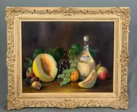 Still Life Fruit Oil Painting in Gallery Frame