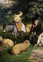 William Joseph Shayer Senior 'Attributed To' 19th Century Oil Painting Cattle & Sheep Resting in a Landscape (10 of 12)